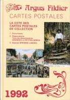 LIVRE ARGUS FILDIER CATALOGUE DES CARTES POSTALES 1992 FRANCE THEMES REGIONALISME TOUS LES DEPARTEMENTS GIRONDE LANDES - Libri