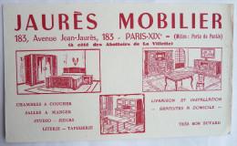 BUVARD JAURES MOBILIER PARIS XIX ème Avenue Jean Jaures - Buvards, Protège-cahiers Illustrés