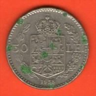 *** 50 Lei 1938  ***  KM 55 -  Rumania / Rumänien / Romania - Rumania