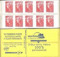 """CARNET 4197-C 9 Marianne De Beaujard """"MON TIMBRE A MOI"""" Daté 30/04/09 Distributeur Sagem. PRODUIT RARE - Carnets"""