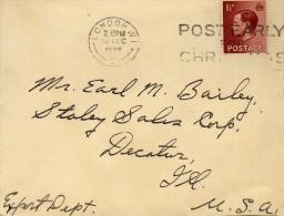 1855    Carta  London 1936   Inglaterra - 1902-1951 (Kings)