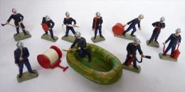 LOT  DE 12 SAPEURS  POMPIERS STARLUX Anciens casques 1978 Petite taille