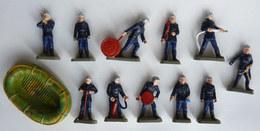 FIGURINE LOT (1) DE 12 SAPEURS  POMPIERS STARLUX Nouveaux Casques 1987-88 Petite Taille 1/43è POMPIER - Starlux