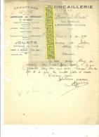 22 - Côtes-d'armor - LANNION - Facture MARTEL - Quincaillerie – 1934 - REF 433 - France