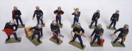LOT  DE 12 SAPEURS  POMPIERS STARLUX Nouveaux casques 1987-88
