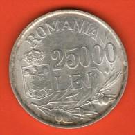 *** 25000 Lei 1946  ***  KM 70 - PLATA / SILVER / SILVER - Rumania / Rumänien / Romania - Rumania