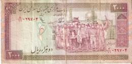 BILLETE DE IRAN DE 2000 RIALS AÑOS 1985-2005  (BANKNOTE) - Irán