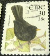 Ireland 2001 Bird Blackbird 30p 38c - Used - 1949-... Repubblica D'Irlanda