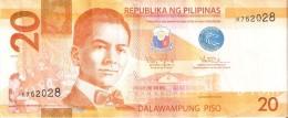 BILLETE DE FILIPINAS DE 20 PISO DEL AÑO 2013  (BANKNOTE) (GINETA-GENETA) - Filipinas