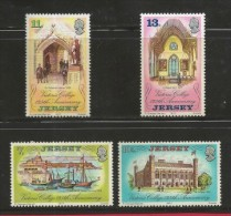 JERSEY, 1977 , Mint Never Hinged Stamps, Arrival Queen Victoria, Sa 168-171, #nr.4235 - Jersey
