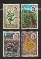 RHODESIA-NYASSALAND, 1963, Mint  Hinged Stamp(s),Tabac Conference, Mich 45-48 , #nr. 481 - Nyassaland (1907-1953)