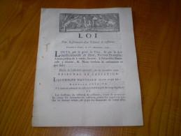 Bulletin Des Lois 1790 Certifié à Embrun :Louis XVI : Loi  Pour La Formation D´un Tribunal De Cassation.Imp. Allier Gap - Gesetze & Erlasse