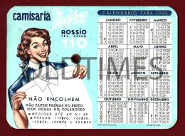 PORTUGAL - CAMISARIA MODERNA - ROSSIO - CALENDARIO E SELECTOR DE TEMPO - 1960 OLD CALENDAR - Tamaño Pequeño : 1941-60