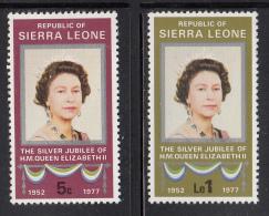 Sierra Leone MNH Scott #440-#441 Set Of 2 25th Anniversary Of Reign Of Queen Elizabeth II - Sierra Leone (1961-...)