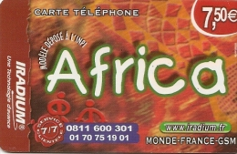 CARTE PREPAYEE-IRADIUM--7.5 €-AFRICA-31/12/2010-plast Ic--T BE- - Autres Prépayées