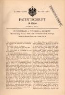 Original Patent -  Fr. Grossmann In Preußlitz B. Bernburg , 1892 , Schächte Für Schwimmendes Gebirge , Bergbau !!! - Historische Dokumente