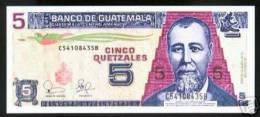 GUATEMALA NOTE 5 QUETZALES 2003 PICK # 106 UNC. - Guatemala
