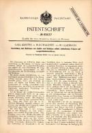 Original Patent -  Carl Kersten In Burgwaldniel B. Schwalmtal ,1892, Langlochbohrmaschine Zum Fräsen , Holz , Tischlerei - Maschinen