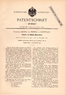 Original Patent - Freiherr Alfons Von Pereira In Stuttgart ,1891, Tempera- Und Majolika - Malverfahren , Malerei , Maler - Maschinen