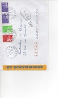 MARIANNE DU 14 JUILLET 10F X 2 + 3,50 + TVP ROUGE RECOMMANDE  AR   5/7/1999 SUPERBE - 1997-04 Marianne Of July 14th