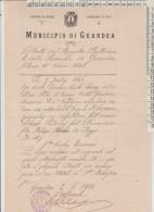 Guardea Municipio Perugia Circondario Di Terni  1914  Certificato - Documents Historiques