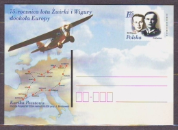 POLAND.   2004/Zwirko I Wigora, 75th Anniversary Flight Around Europe.. PostCard/unused. - Stamped Stationery
