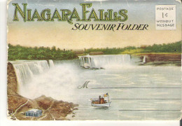 Souvenir Folder Of Niagara Falls, New York Pictures Are Separated From The Cover 10 Photos And Description - NY - New York