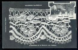 Cpa Du 50 Villedieu Les Poëles échantillon De La Dentelle Aux Fuseaux    DPTY8 - Villedieu