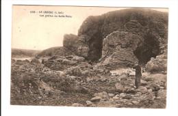 44 LE CROISIC / CPA Dos Collé  N° 1026 : LES GROTTES DE LA BAIE DU SABLE MENU /circulée 1912 / Papier Collé Au Dos !!! - Le Croisic