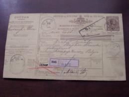 Bulletin D'Expédition Des Postes D'Italie 1893 - Bari / Dison ( Zie Foto´s Voor Detail ) ! - Italie