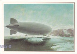 Postcard 500 Jahre Post - Used: Luftschiff LZ127 Graf Zeppelin - Used 1990 (G62-8) - Dirigeables