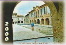 M J C – Télécarte ° LISLE/Tarn °=° N° 16A ° 12ème RDV Novembre 2000 ° Finition De La Place Saissac ° 500 Exemplaires - Autres