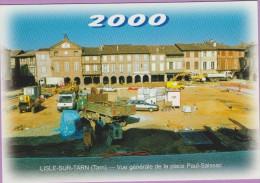 M J C – Télécarte ° LISLE/Tarn °=° N° 16D ° 12ème RDV Novembre 2000 ° énormes Travaux Place Saissac ° 500 Exemplaires - Cartes Postales