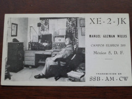 XE-2-JK Manuel Guzman Willis ( Mexico ) Anno 1957 ( Zie Foto Voor Details ) - Radio