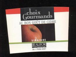 Etiquette  De Vinaigre De Cidre  -  Beaufor  Reims  (51) - Autres