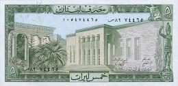 Lebanon 5 Livres  1986  Pick 62d UNC - Liban