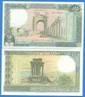Lebanon 250 Livres  1985  Pick 67 UNC - Liban