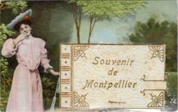 VILLE, Système DEPLIANT – Souvenir De Montpellier - Montpellier
