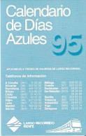 CALENDARIO DEL ESPAÑA DE RENFE DEL AÑO 1995 (CALENDRIER-CALENDAR) TREN-TRAIN-ZUG - Calendari