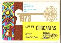 CALENDARIO DEL ESPAÑA DE RENFE DEL AÑO 1973 (CALENDRIER-CALENDAR) TREN-TRAIN-ZUG - Tamaño Pequeño : 1971-80