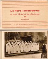 Carnet 11 CPA (complet) Le Père Timon-David …, Marseille Ste Marthe, Nimes, Aix, Ségus .. - Marseille