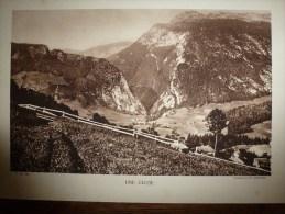 Photo A. Demangeon   UN VILLAGE DU JURA    (plateau Jurassien) - Places