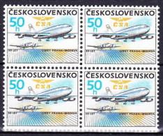 ** Tchécoslovaquie 1986 Mi 2860 (Yv 2674) Bloc De 4, (MNH) - Czechoslovakia