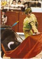 CALENDARIO DEL AÑO 1977 DE UN TORO Y UN TORERO  (TORO-BULL) (CALENDRIER-CALENDAR) - Tamaño Pequeño : 1971-80