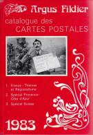LIVRE ARGUS FILDIER CATALOGUE DES CARTES POSTALES ANCIENNES DE COLLECTION 1983 FRANCE ILLUSTRATEURS ET REGIONALISME 9è E - Libri