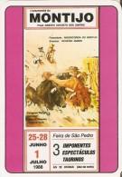 CALENDARIO DE PORTUGAL DEL AÑO 1990 DE UN CARTEL DE LA PLAZA DE MONTIJO  (TORO-BULL) (CALENDRIER-CALENDAR) - Calendriers