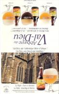 Brasserie-Bière-La Triple :Force Et Sérénité -Abbaye Du Val Dieu-Publicité De Table-recto-verso-15x24cm - Autres Collections