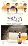 Brasserie-Bière-La Blonde: Fraîcheur Et Légèreté -Abbaye Du Val Dieu-Publicité De Table-recto-verso-15x24cm - Autres Collections