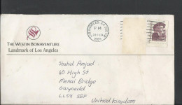 USA 1988 Buffalo Bill Cody Postal History Cover Sent From Los Angeles To United Kingdom. - Brieven En Documenten