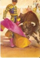 CALENDARIO DE ESPAÑA DEL AÑO 2002 DE UN TORO Y UN TORERO  (TORO-BULL) (CALENDRIER-CALENDAR) - Calendarios